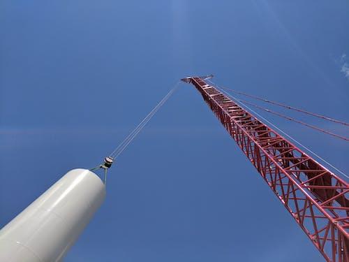 리프팅 크레인, 암크레인, 풍력 발전, 풍력 발전기의 무료 스톡 사진