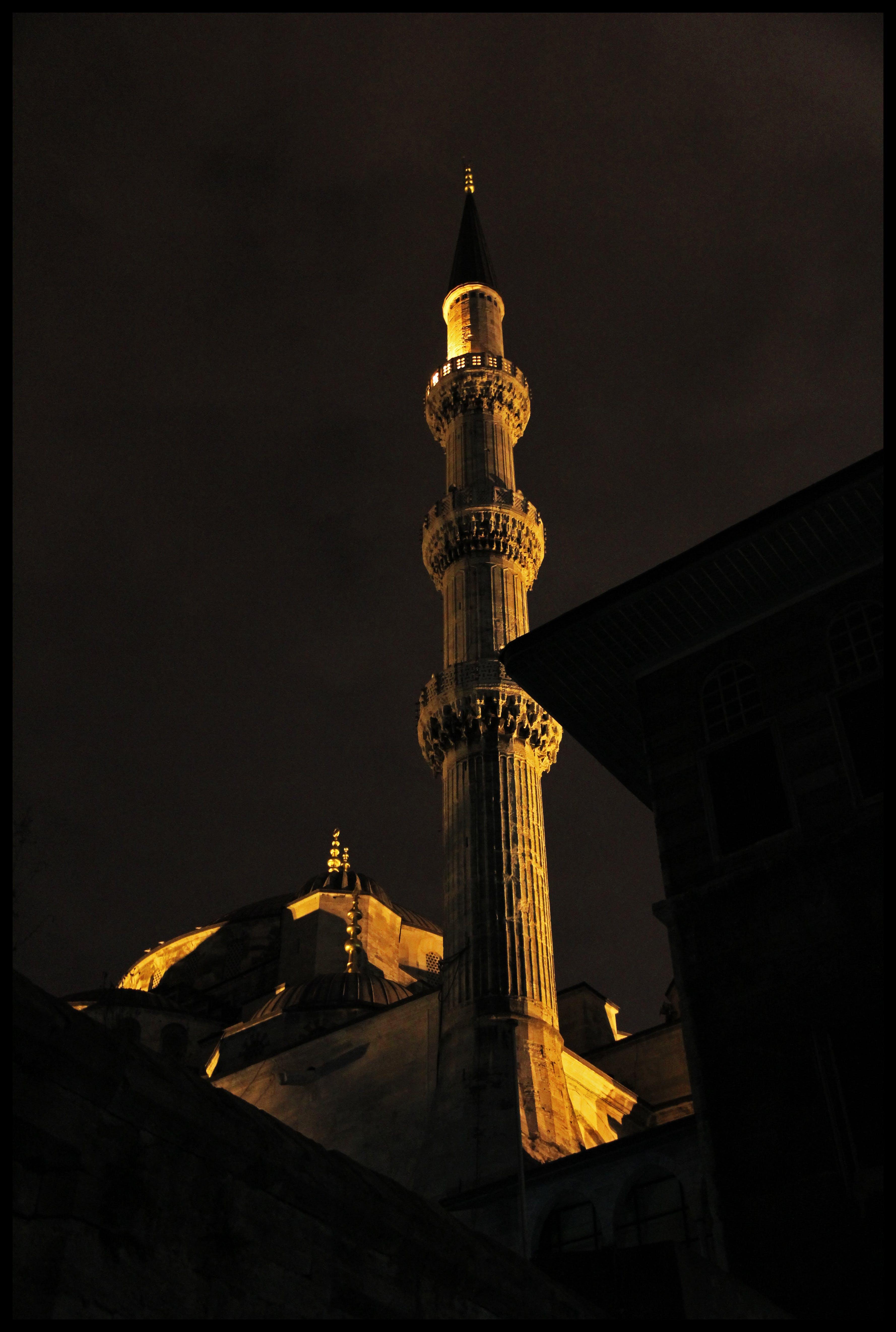 Free stock photo of sky, landmark, lights, night