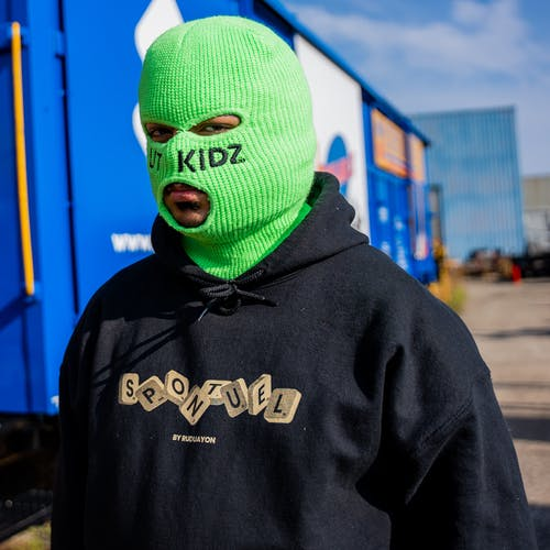 Person in Green Nike Hoodie