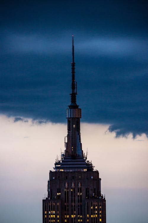 Black Tower Under Blue Sky