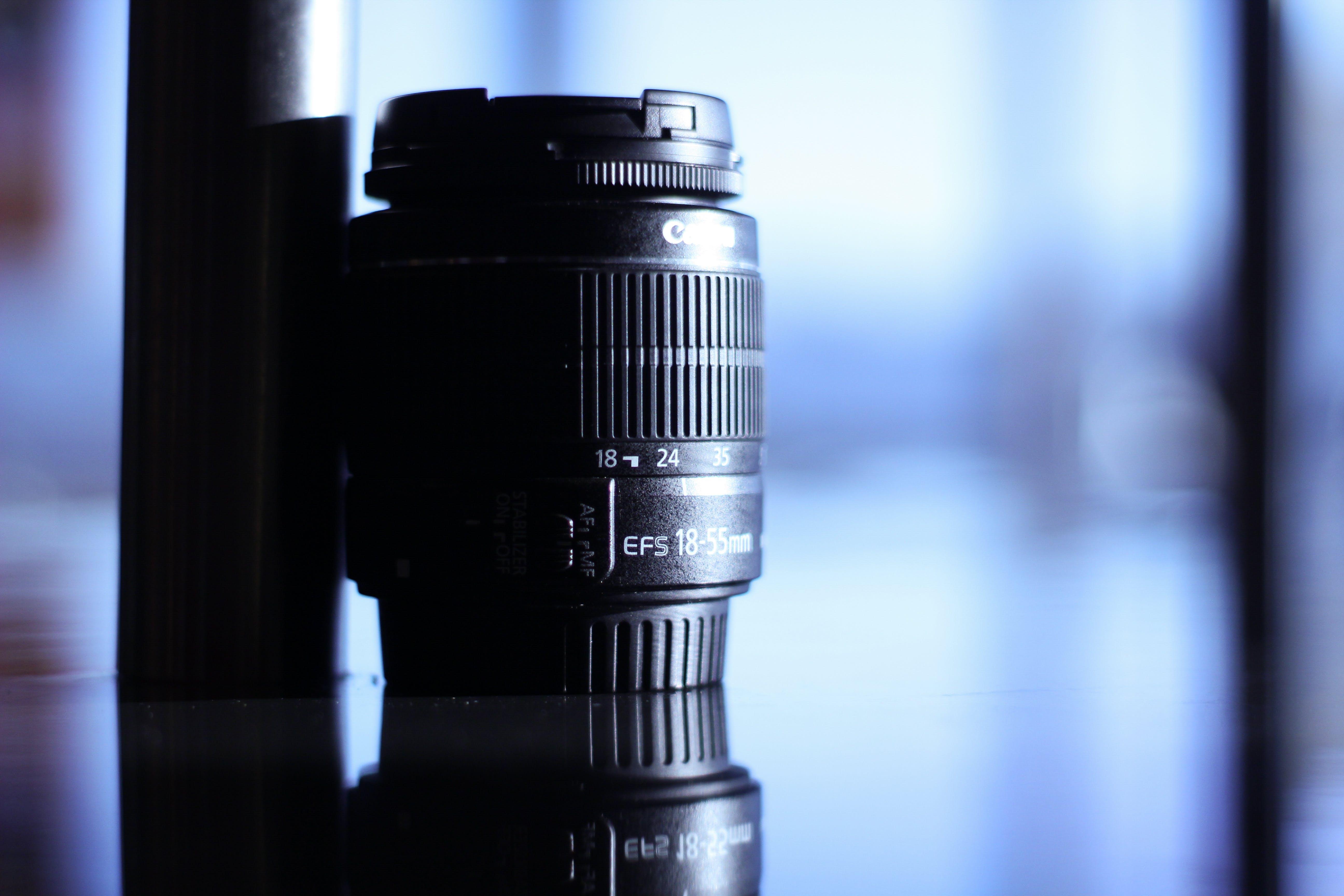 Tilt Lens Photography of Black Camera Lens