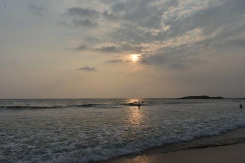 Free stock photo of beach, kovalam beach, sunset