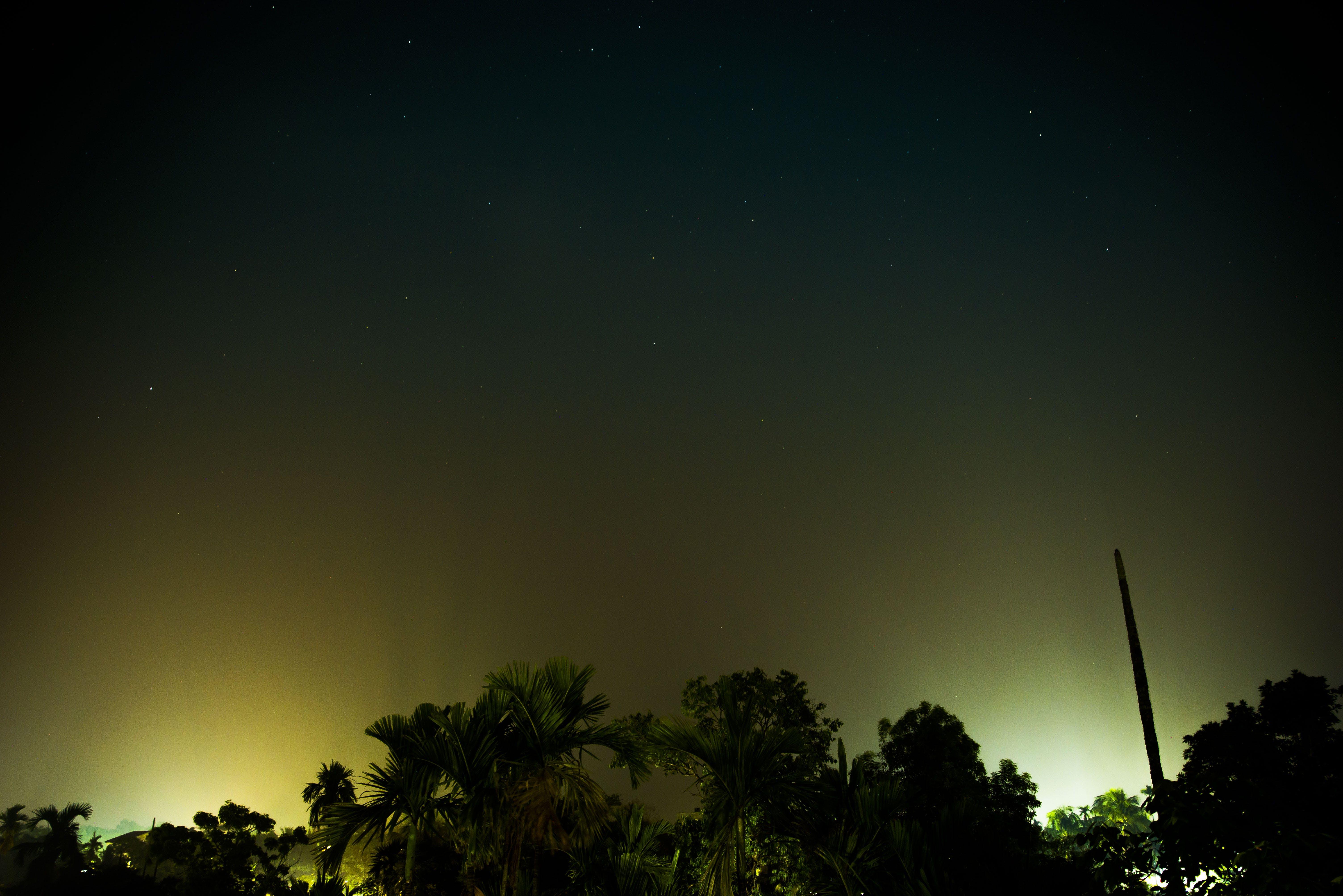 Free stock photo of night lights, night sky, night photography