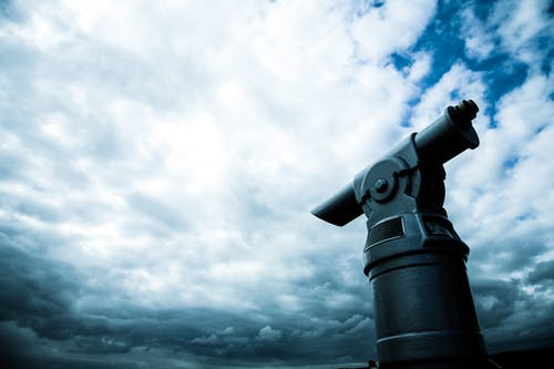 Free stock photo of binoculars, clouds, cloudy, coin operated telescope