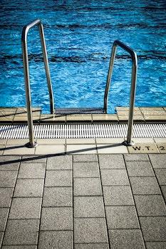 Free stock photo of water, pattern, tiles, swimming pool