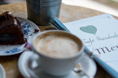 Free stock photo of cake, chocolate cake, coffee, menu