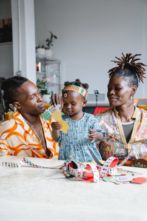African family playing