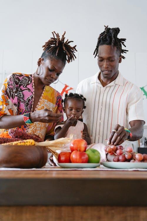 A Family Celebrating Kwanzaa