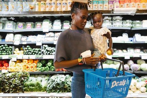 Photos gratuites de acheter, afro-américain, enfant
