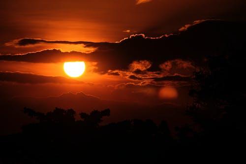 Gratis lagerfoto af aften, bagbelyst, bjerg