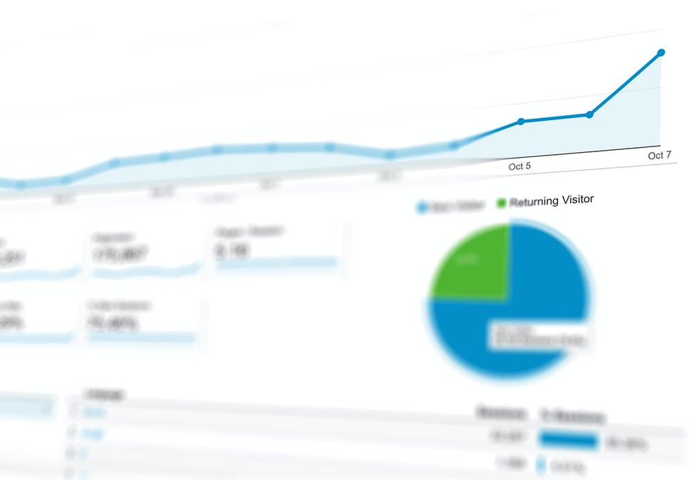 Close up image of dashboard, representing what datahunter dashboard might look like.