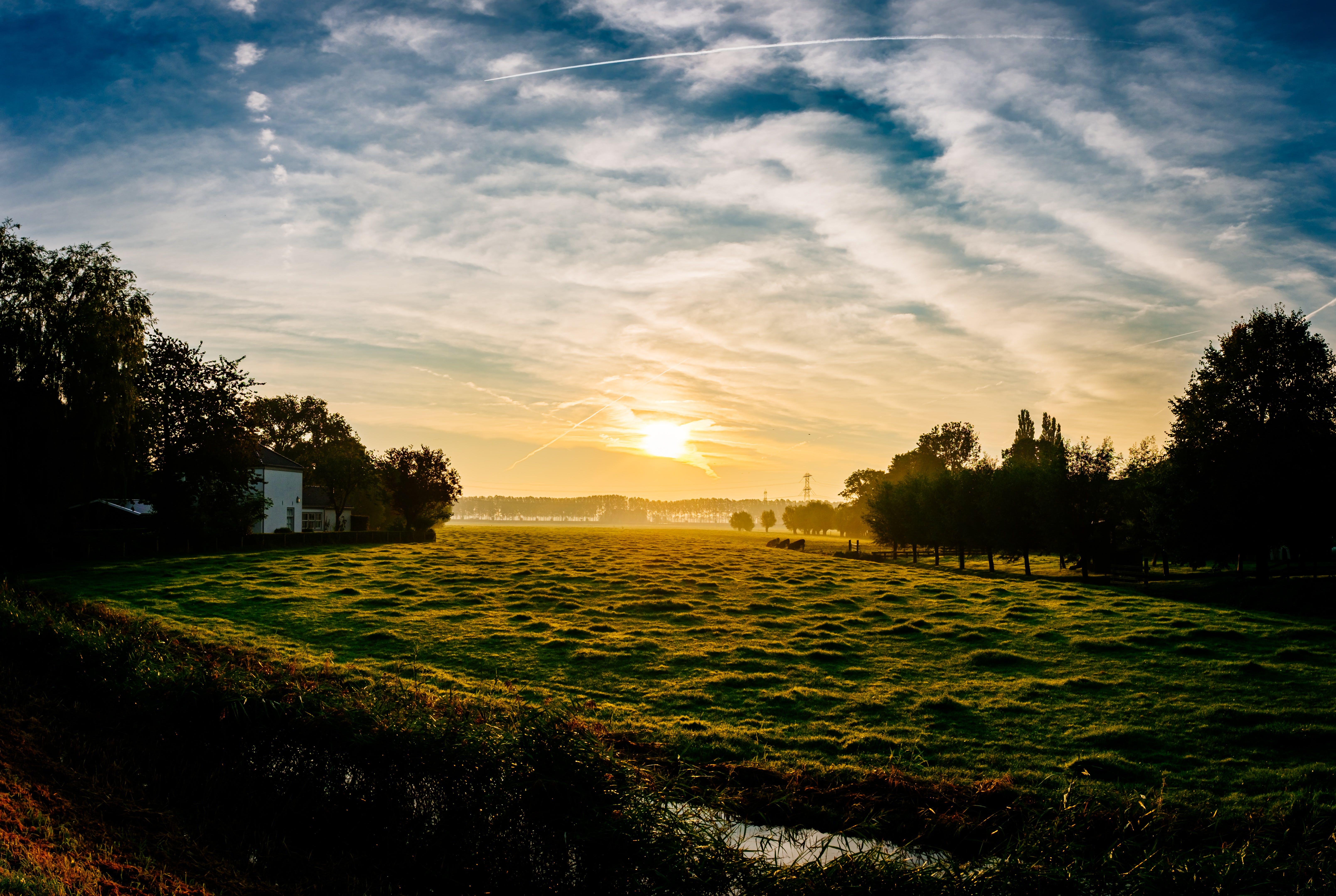 Kostenloses Stock Foto zu landschaft, natur, sonnenaufgang, sonnenuntergang