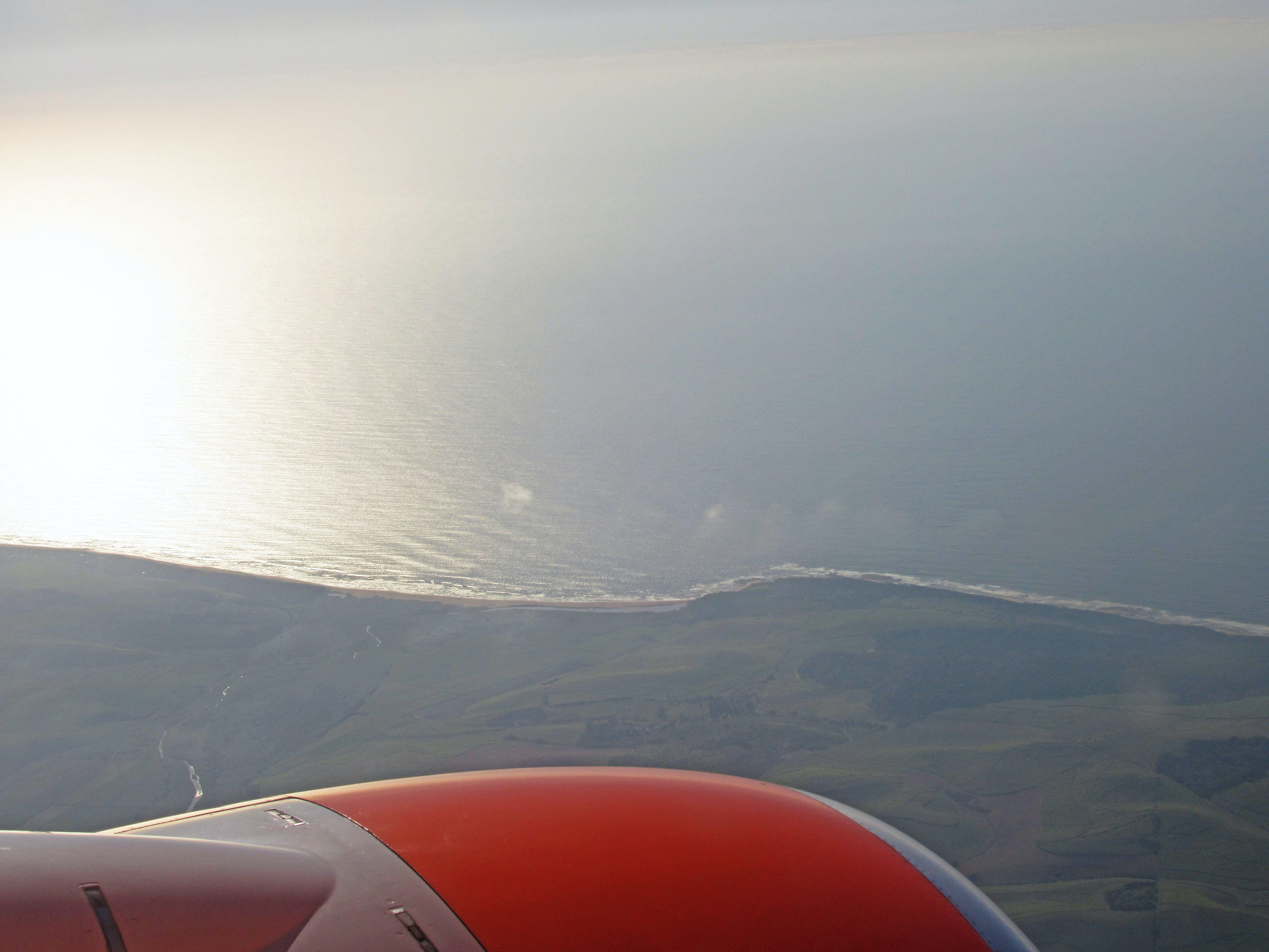 Free stock photo of aerial view, aeroplane, nature, ocean