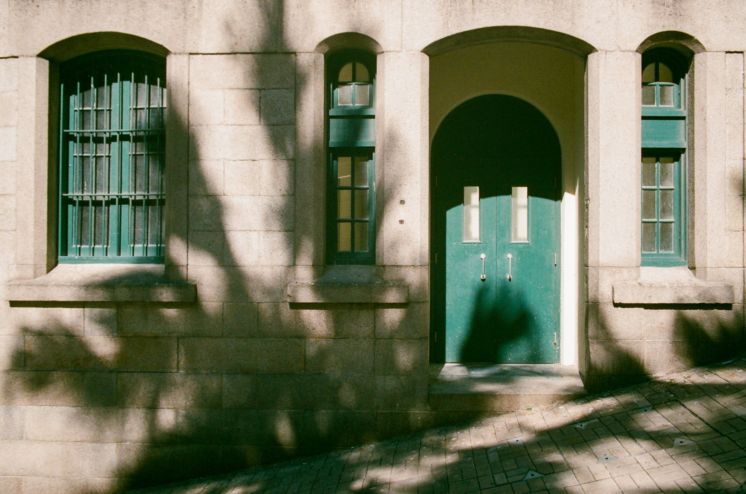 architektur, eingang, fassade