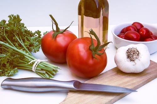 Δωρεάν στοκ φωτογραφιών με λαχανικά, νοστιμότατος, ντομάτες, σκόρδο