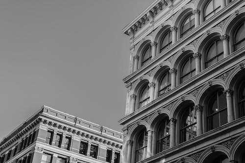 Kostenloses Stock Foto zu architektur, aufnahme von unten, außen, einfarbig