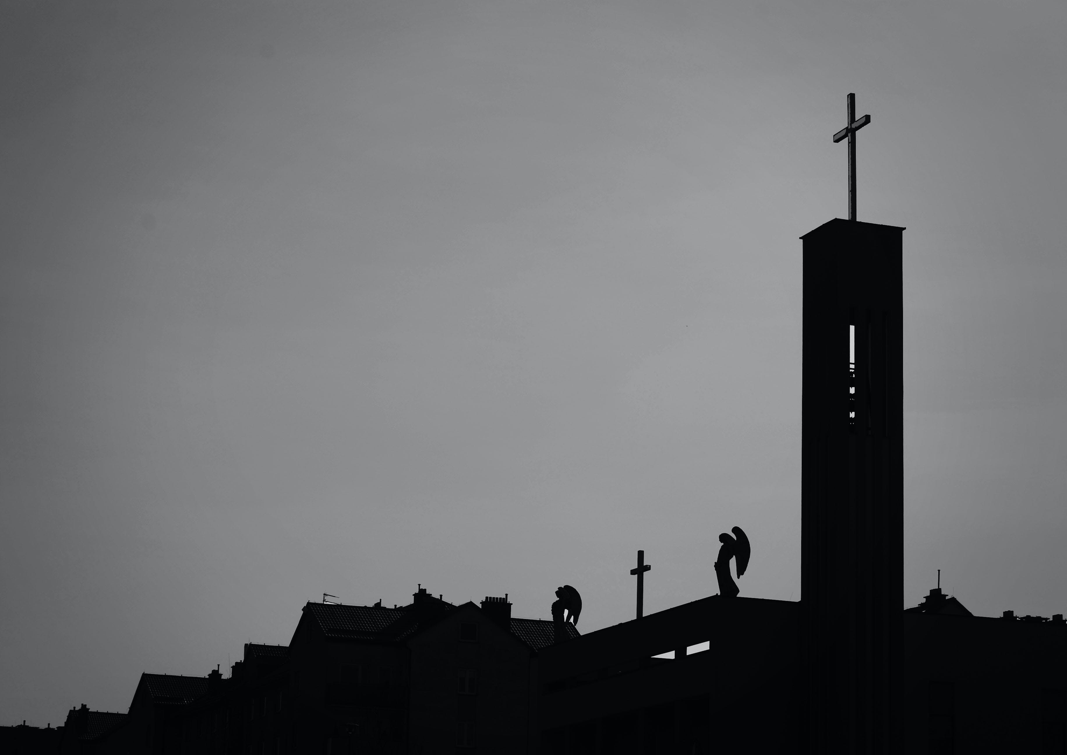 Silhouette Photo Of Cross