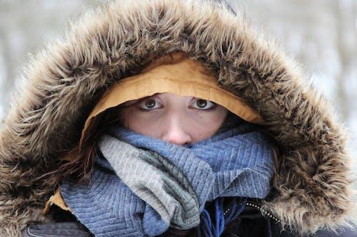 Woman in Brown Fur Coat