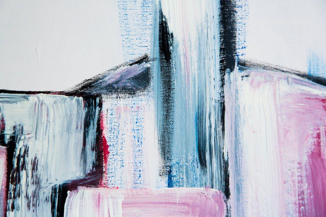 アート, キャンバス, 建物