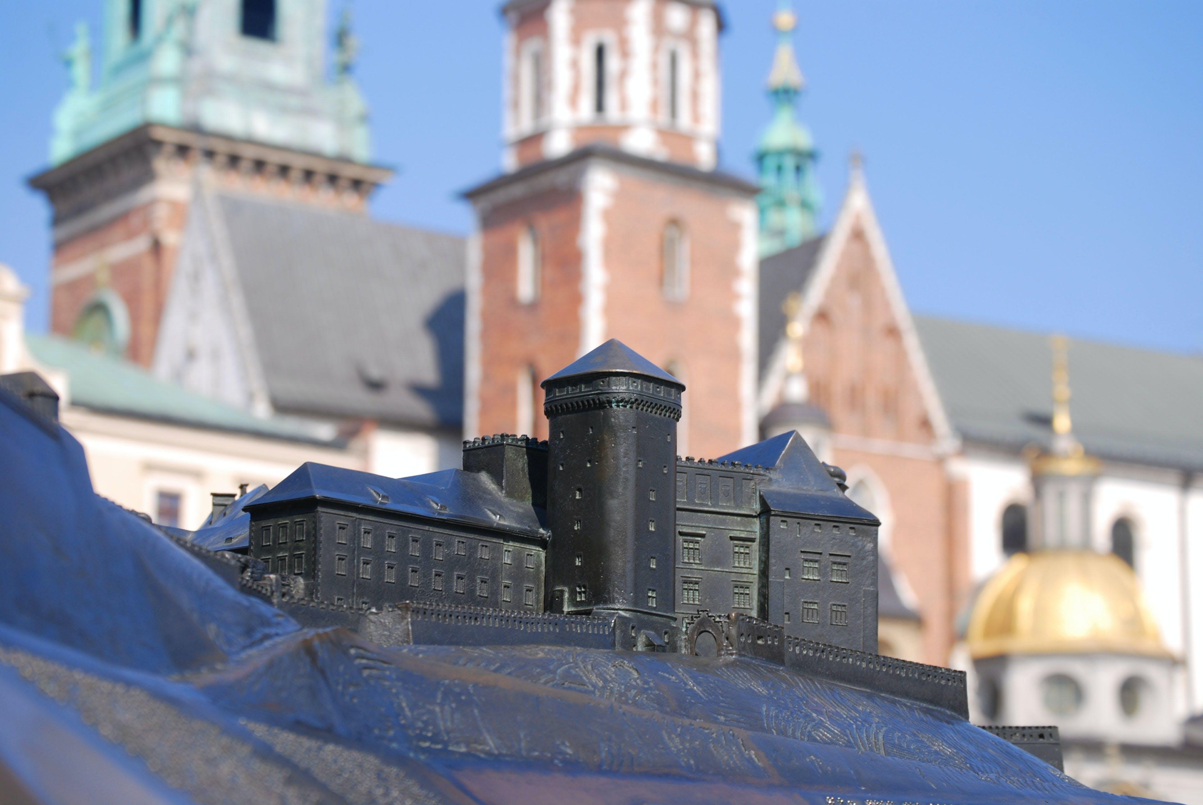 Black Building Miniature