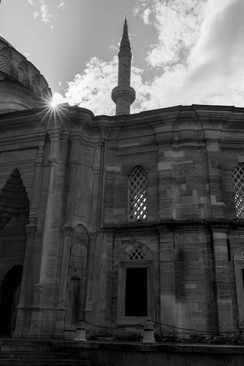Free stock photo of a mosque, b amp w, bosphorus
