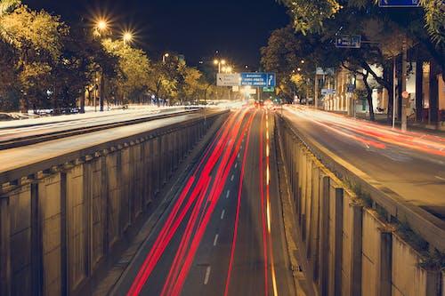 Zeitrafferfoto Der Straße