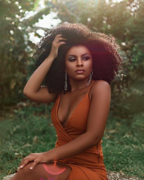 Бесплатное стоковое фото с Афро, волос, волосы