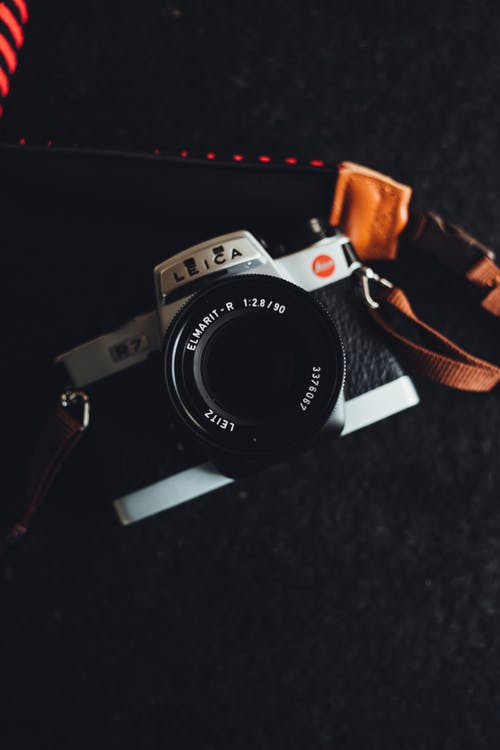 Free stock photo of background, black background, camera, camera lens