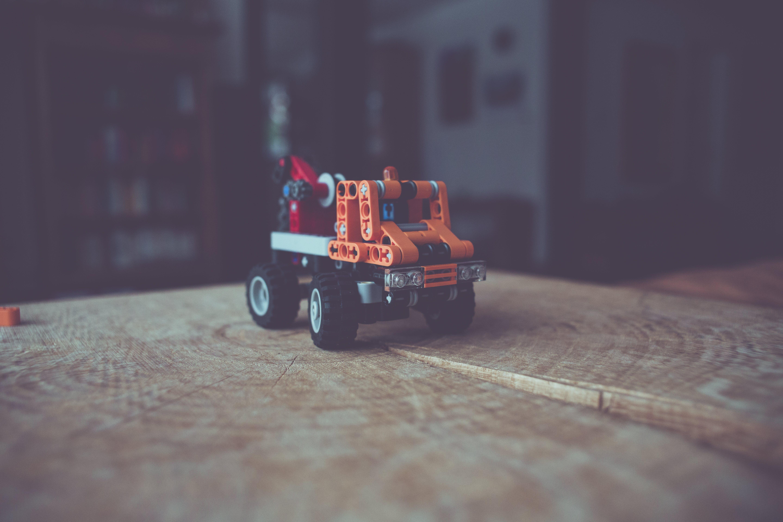 Orange, Gray, and White Plastic Toy