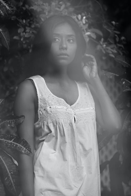 Free stock photo of black and white, monochrome, outdoor, portrait