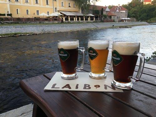 Ingyenes stockfotó a folyóparton, folyópart, pihentető, sör témában
