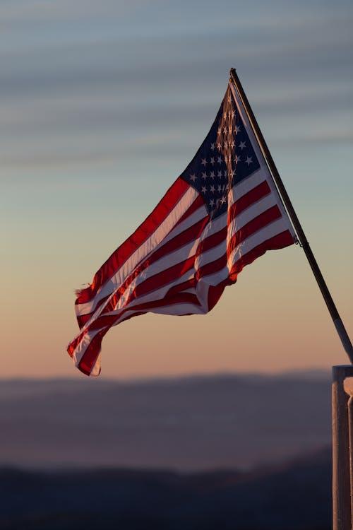 Drapeau américain, états-unis, mât