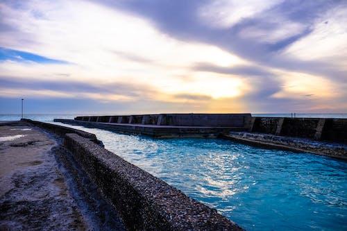 Kostnadsfri bild av betong, gryning, hav, havet