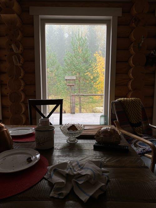 インドア, コテージ, テーブルの無料の写真素材