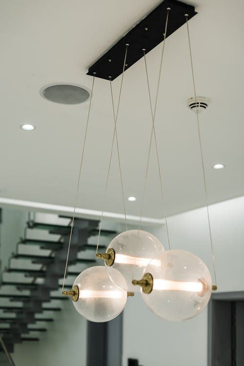 Gold and White Pendant Lamp