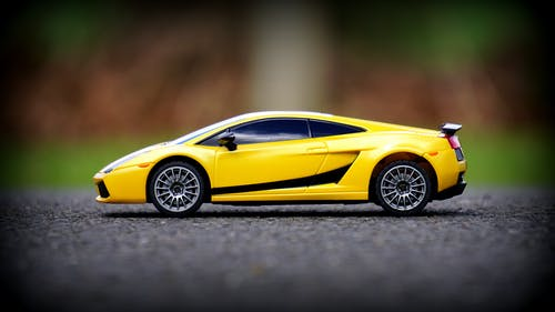 Yellow Die-cast Toy Coupe