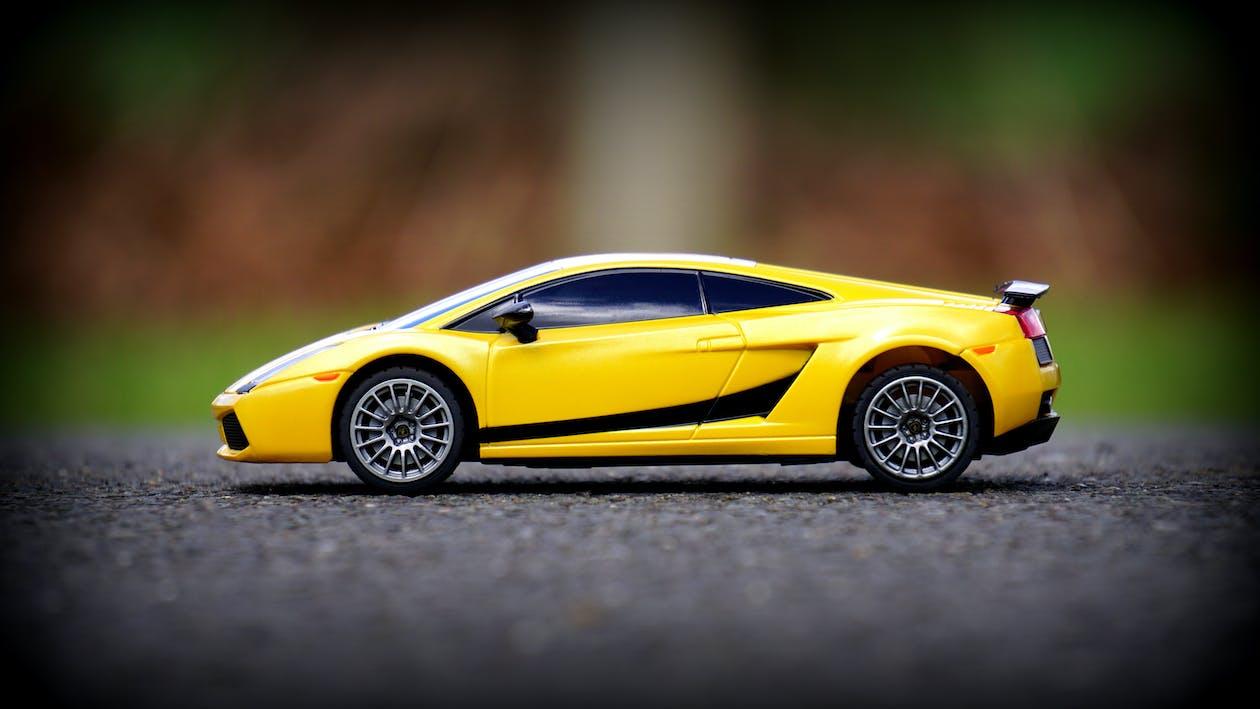 bil, gul, Lamborghini