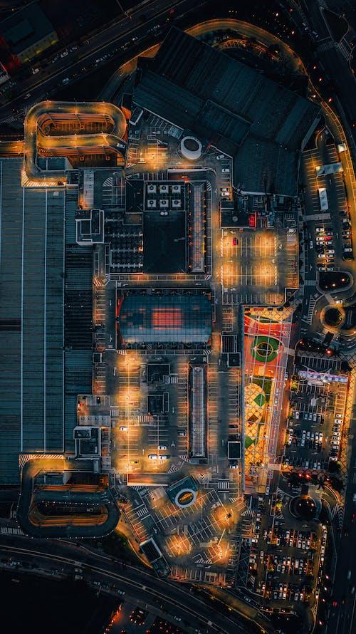 俯視圖, 垂直拍攝, 城市 的 免費圖庫相片