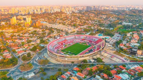 Aerial View of a Football Stadium