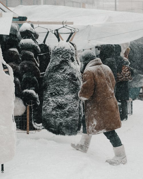 People Walking on Snow Covered Ground
