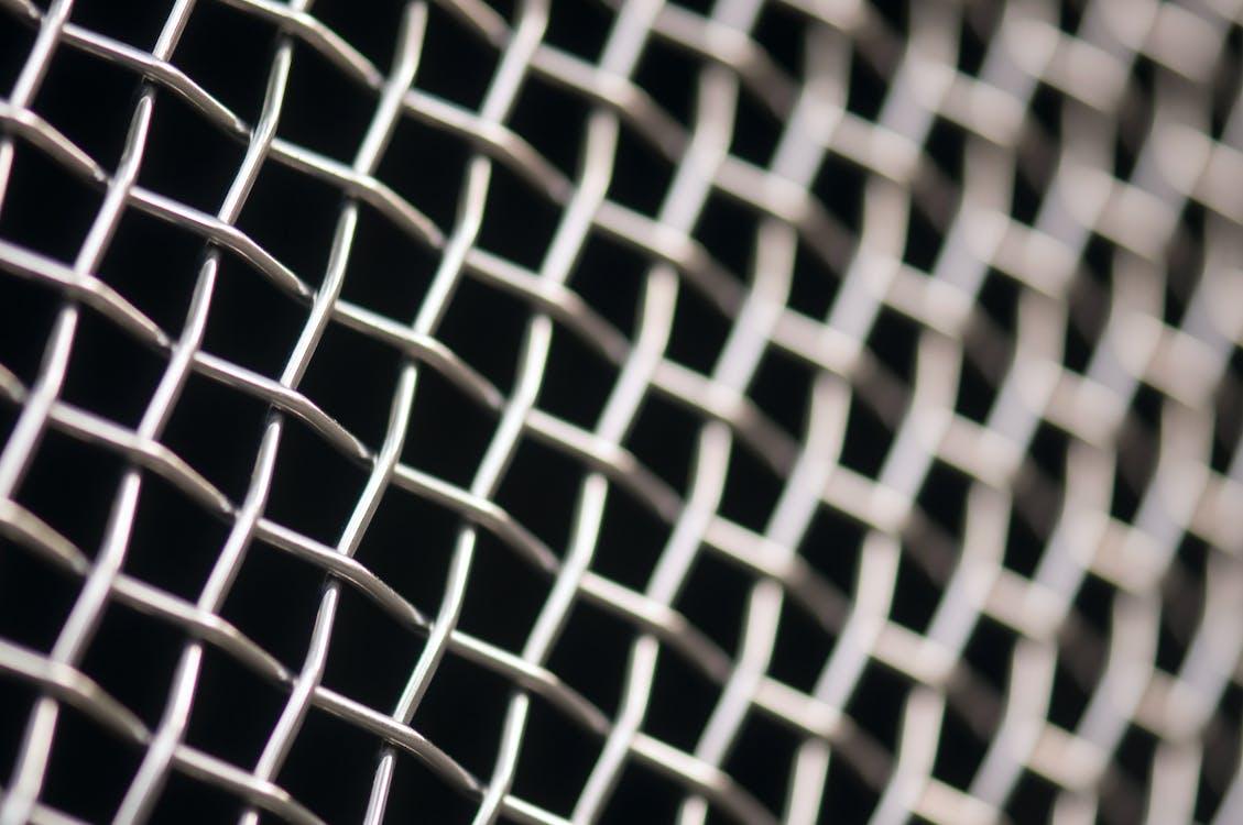 Gray Metal Chain Screen