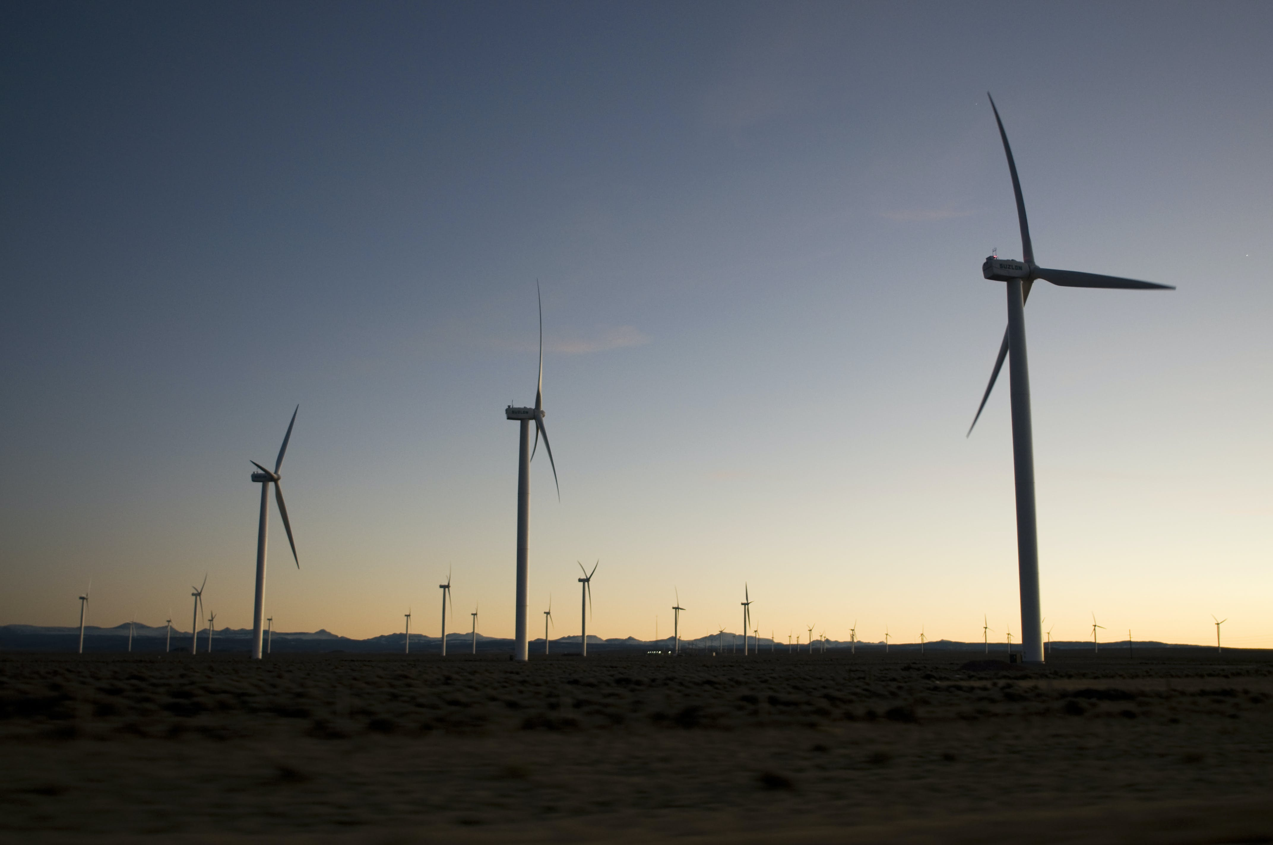 Wind Mills on Field