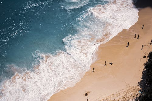People Surfing on Sea Waves