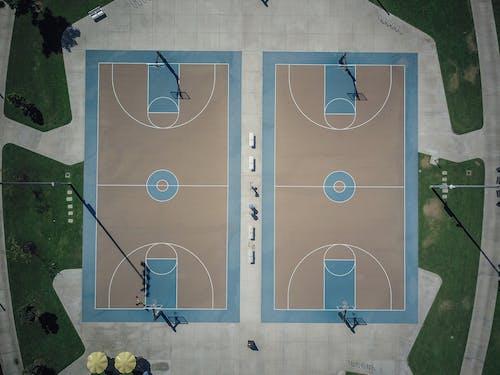 Gratis stockfoto met basketbalveld, bovenaanzicht, drone fotografie