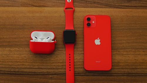 Close-Up Shot of Apple Products