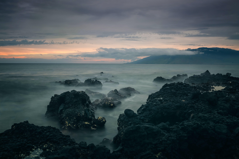 Fotos de stock gratuitas de agua, amanecer, exposición larga, Hawai