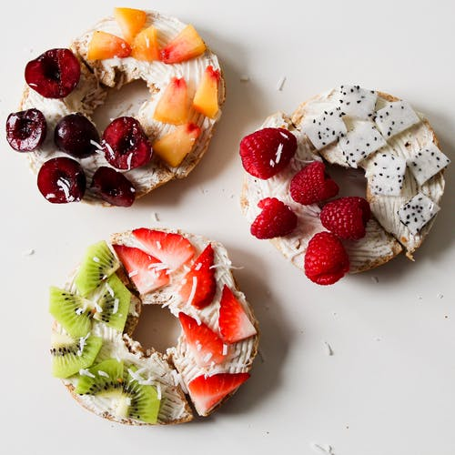 Round Fruit Donuts