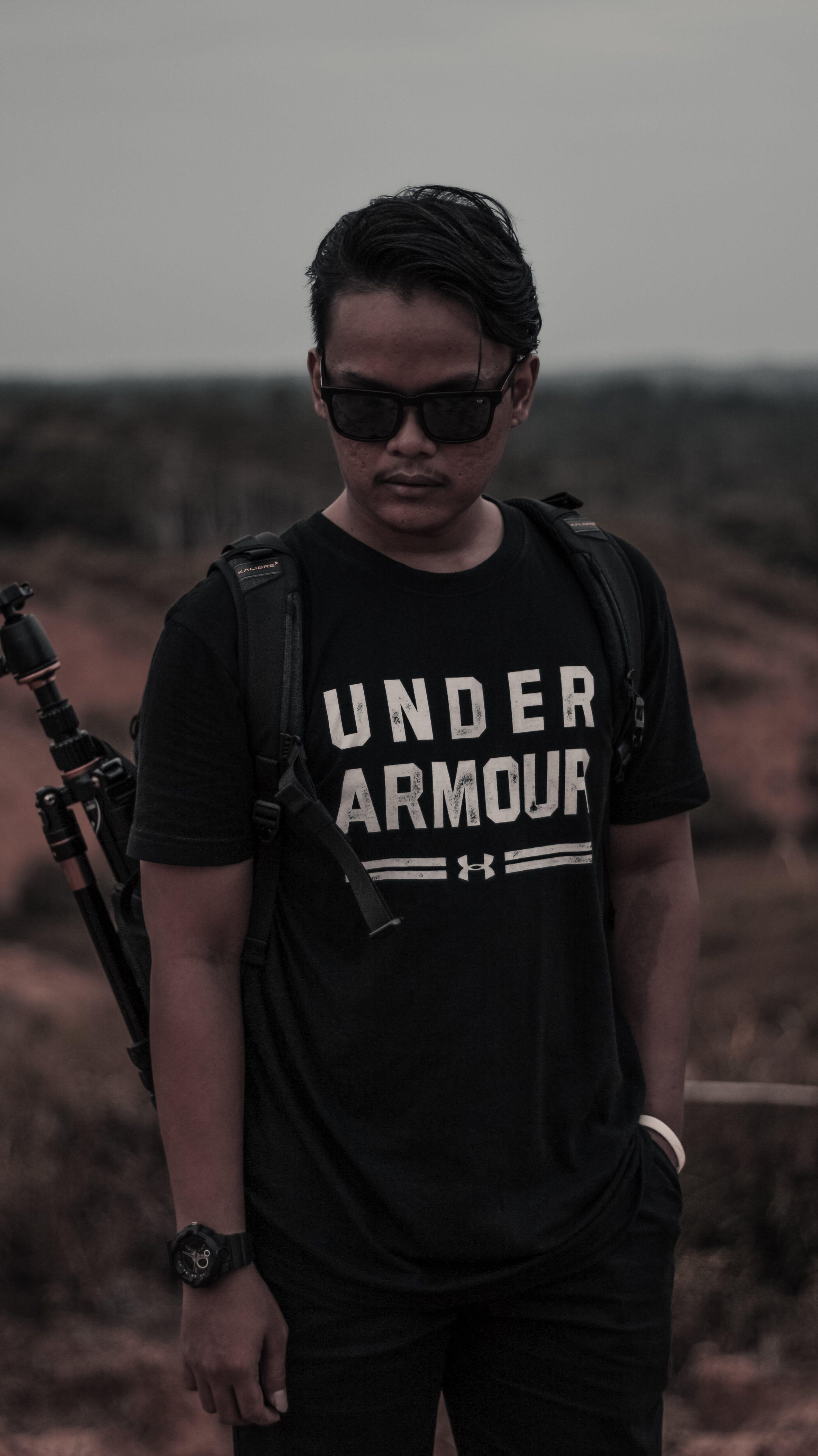 Black Under Armour Crew-neck T-shirt