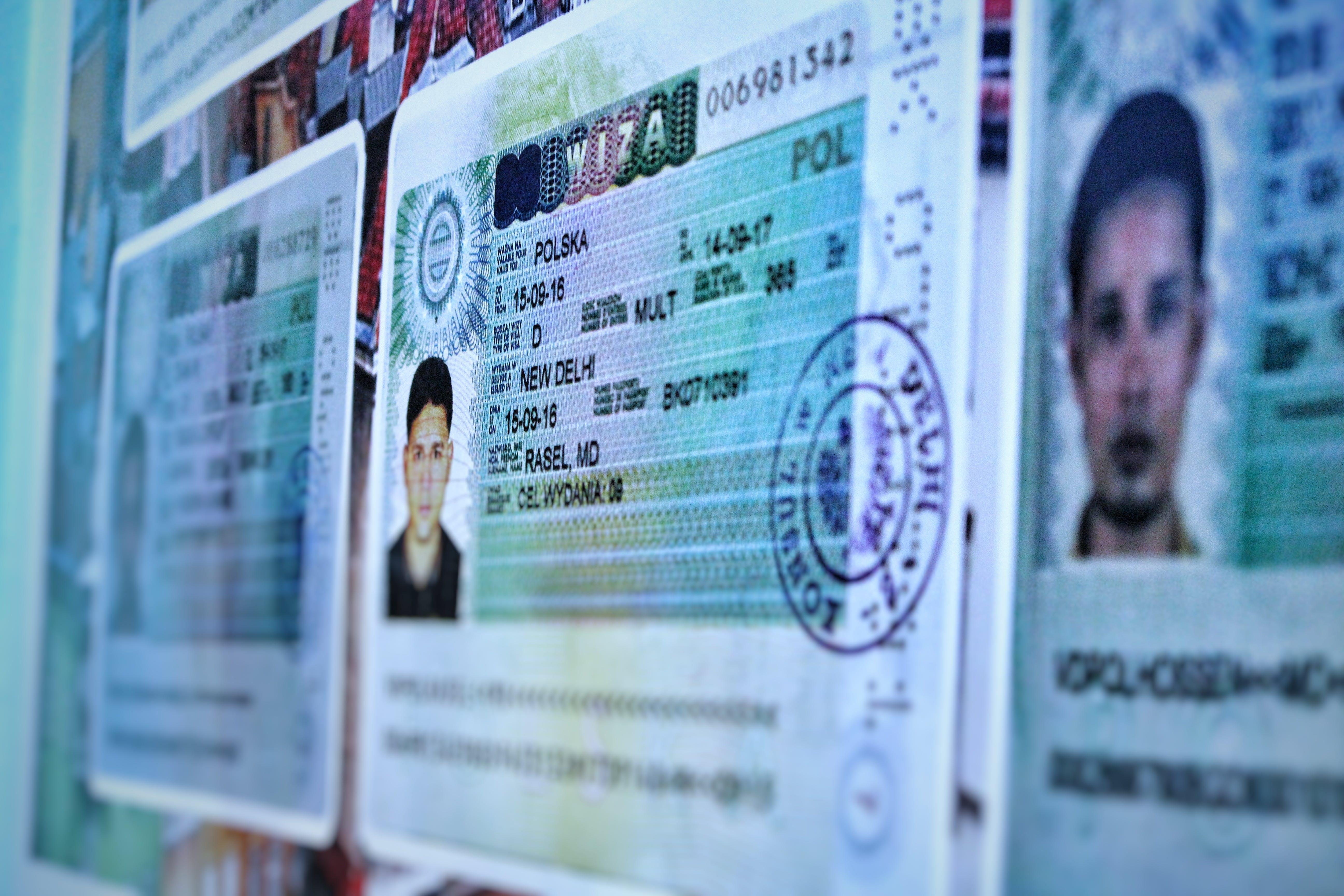 Free stock photo of education, passport, student visa, Visa copy