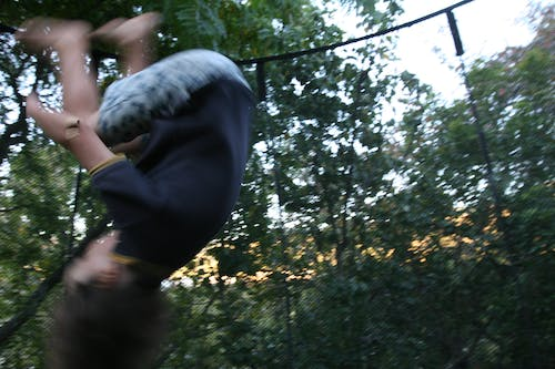 Free stock photo of backflip, blurred, flip, trampoline
